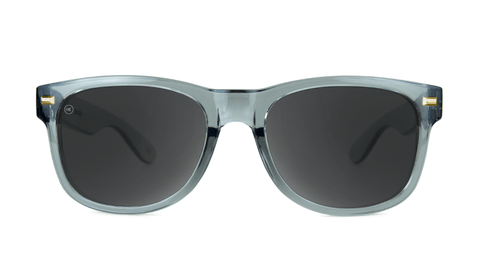 Fort Knocks Sunglasses With Grey Frames and Black Smoke Lenses, Back