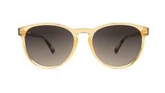 Sunglasses with Beverly Peach Frames and Amber Gradient Lenses, Front