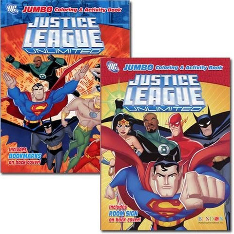 Justice League Jumbo Coloring and Activity Book