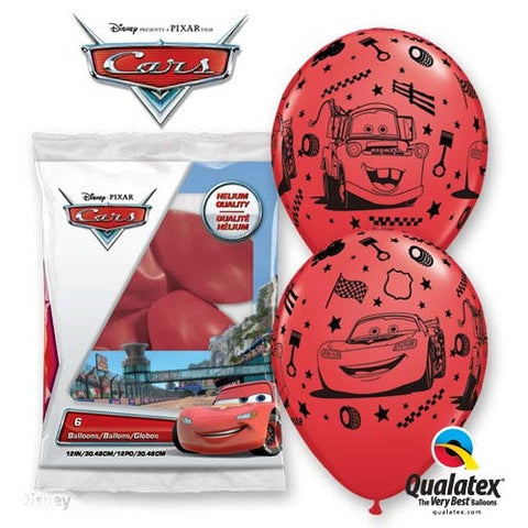 "Latex 12"" Cars Latex Balloons 6ct"