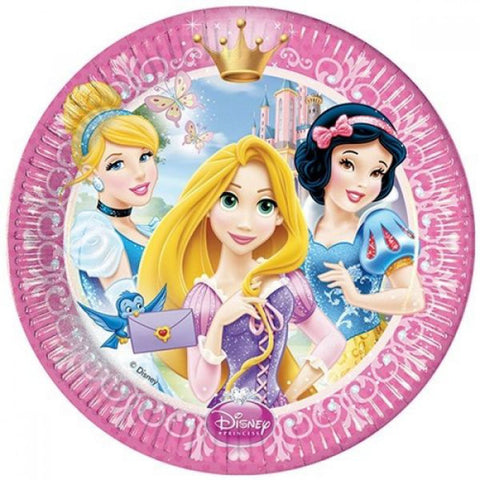 Disney Princess Glamour Party Paper Plates 8ct