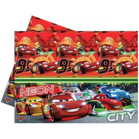 Disney Cars Neon Plastic Tablecloth