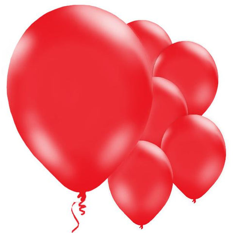 "Latex 11"" Red Balloons 10ct"