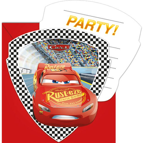 Disney Cars 3 Invitations 6ct