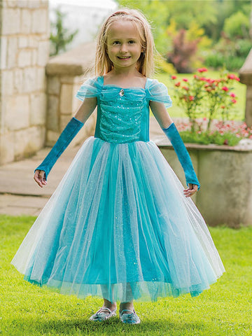 Turquoise Sparkle Princess Costume
