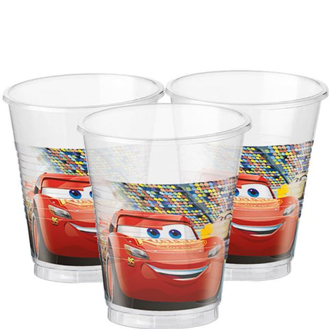Disney Cars 3 Party Plastic Cups 8ct