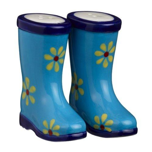 Grasslands Road Puddle Jumper Salt and Pepper Shakers, Blue
