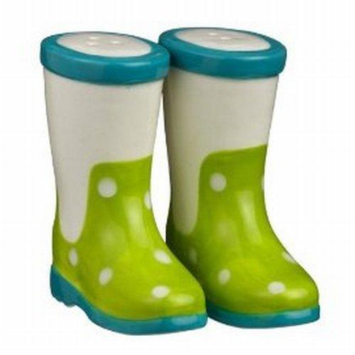 Grasslands Road Puddle Jumper Salt and Pepper Shakers - Green