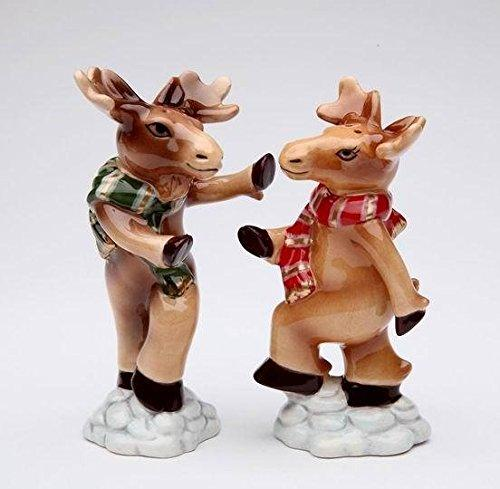 Cosmos Gifts Moose Couple Salt and Pepper Shakers