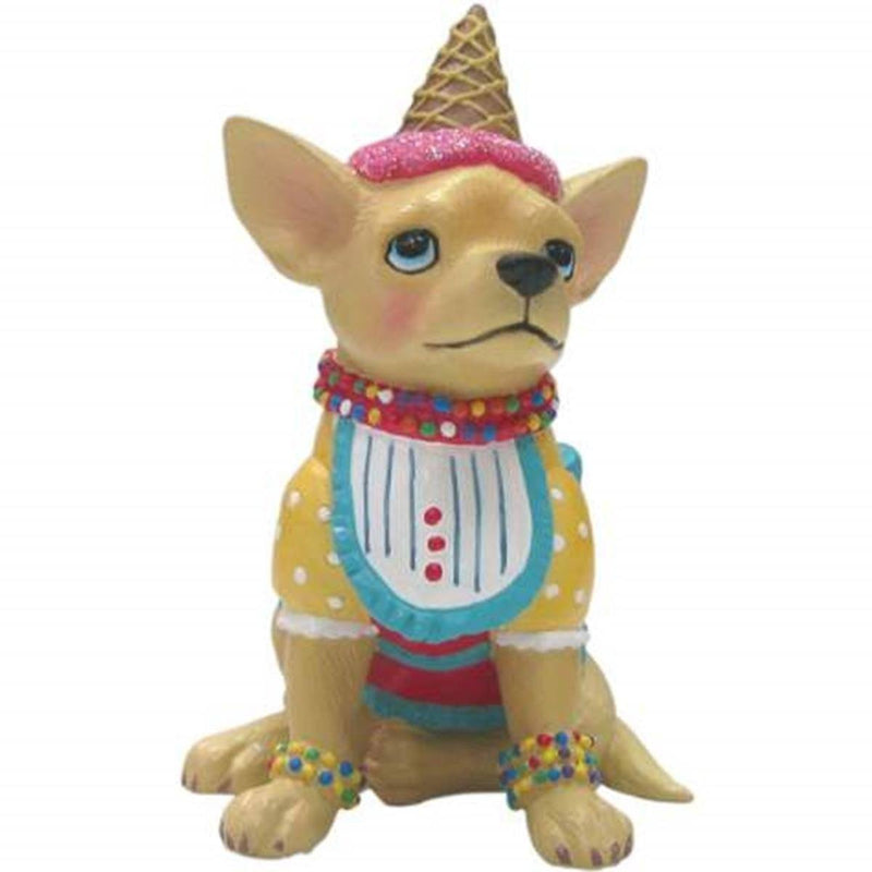 Aye Chihuahua Ice Cream Chihuahua Mini Figurine by Westland Giftware