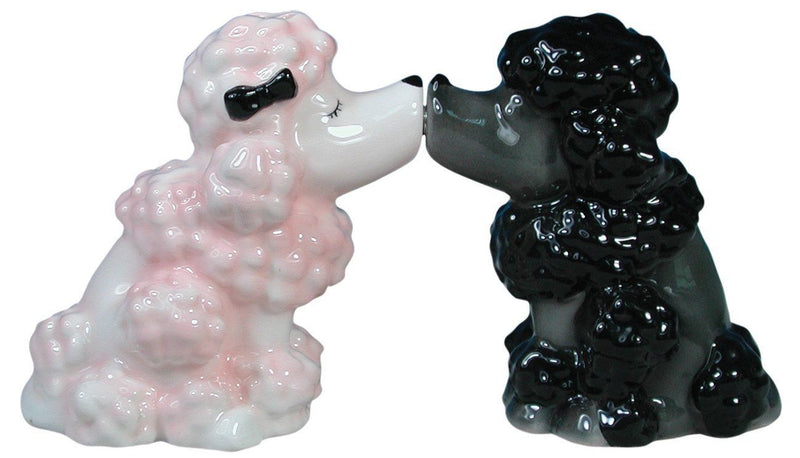 Westland Giftware Mwah Magnetic Poodles Salt and Pepper Shaker Set