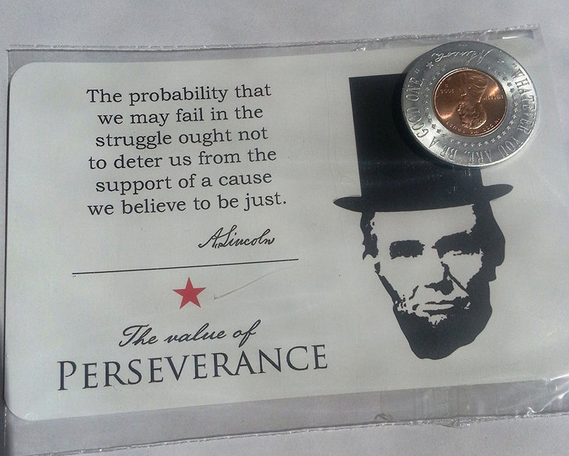 Abe Lincoln Penny Magnet with Postcard