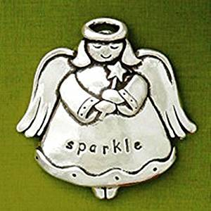 Basic Spirit Angel Jolly Pewter Ornament, Made in Nova Scotia