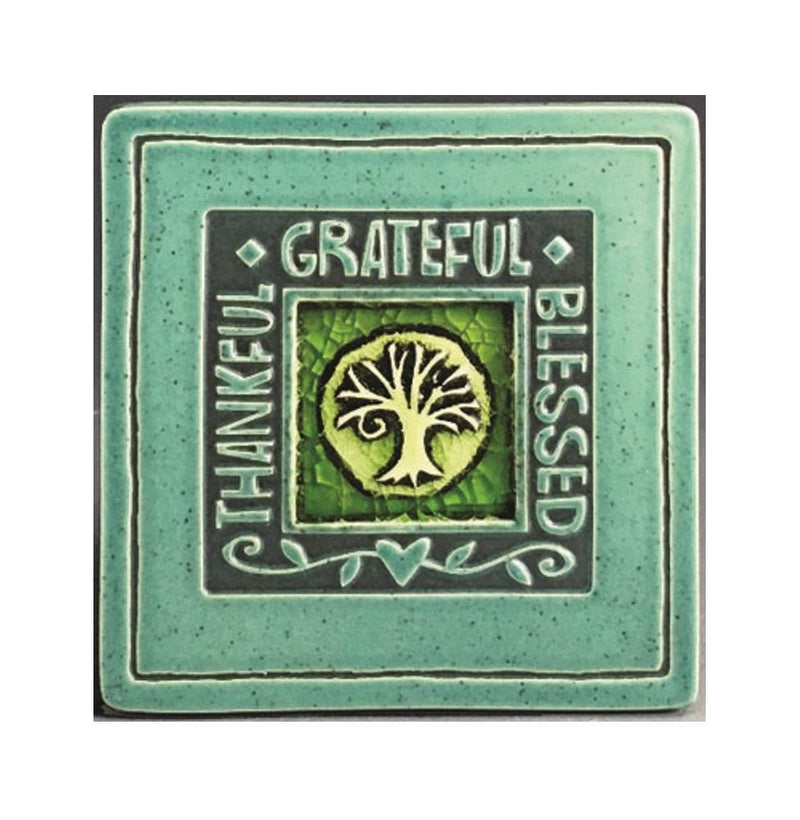 Macone Clay Thankful/Grateful/Blessed Coaster