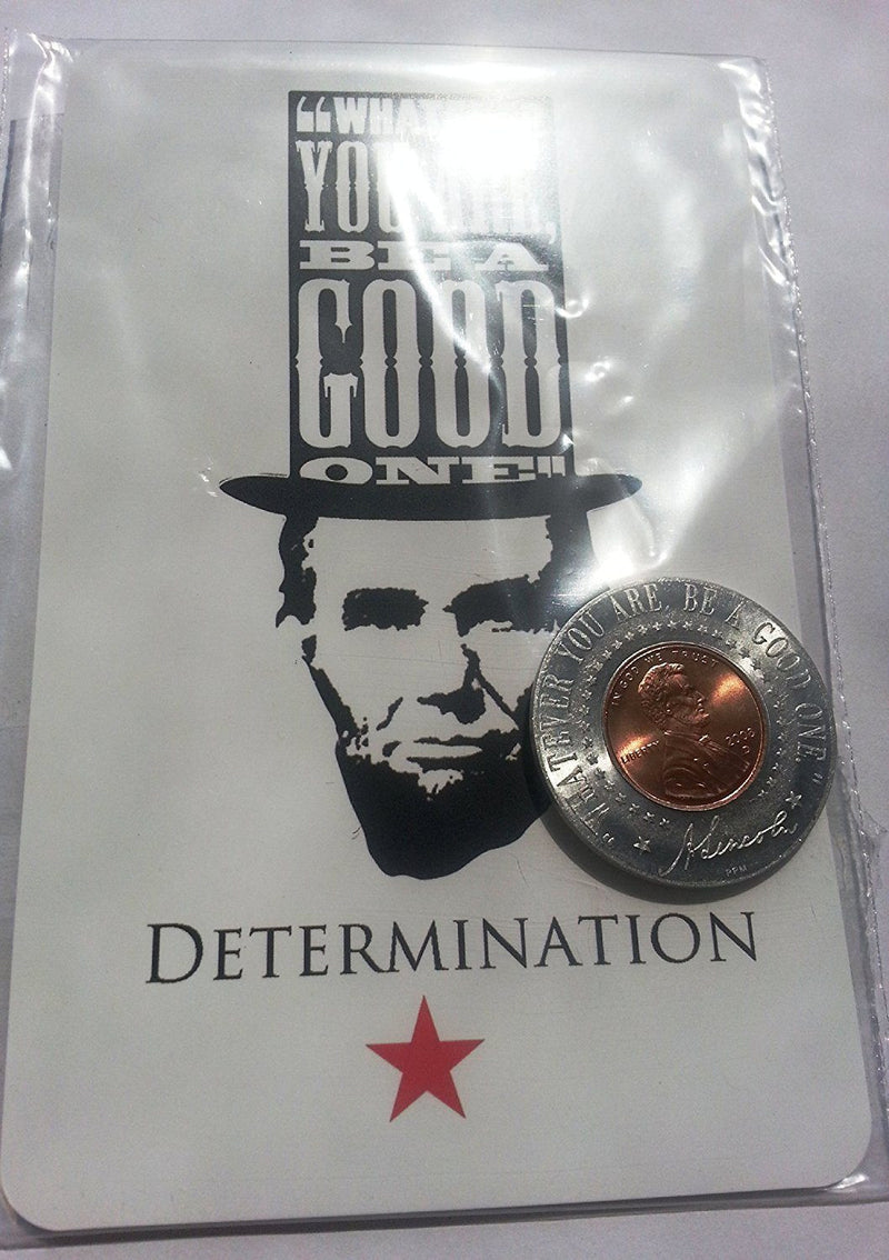 Abe Lincoln Penny Magnet with Postcard (Determination)
