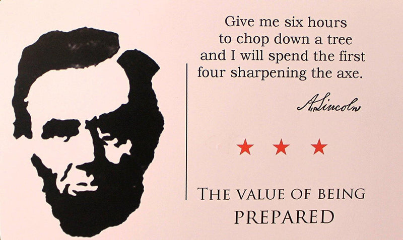 Abe Lincoln Penny Magnet with Postcard  (Prepared)