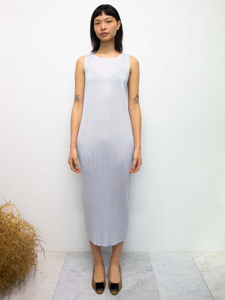 PLEATS PLEASE ISSEY MIYAKE Basics Tank Dress - Light Grey