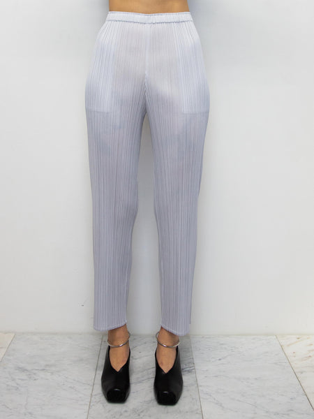 PLEATS PLEASE ISSEY MIYAKE Basics Pants - Light Grey