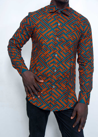 Pepperfruit Abuja IV Print Cotton Shirt