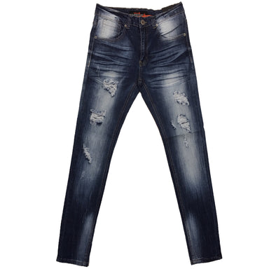 Copper Rivet Light Sand Blue Premium Rip Jean
