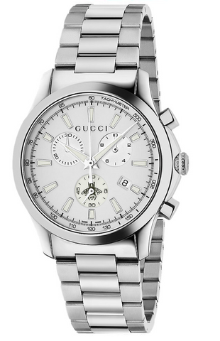 Gucci G-Timeless Unisex / Men's 38mm White Dial With Stainless Steel Bracelet Strap Watch - YA126472