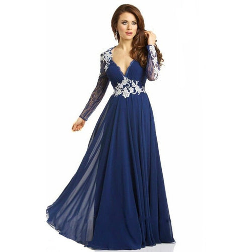Abendkleider Long Evening Dress New Arrival Formal Dresses Lace Long Sleeve Cheap Women Mother Of The Bride Dress In Stock - Shopatronics - One Stop Shop. Find the Best Selling Products Online Today