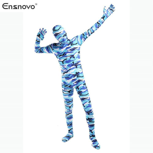 Adult Lycra Nylon Zentai Camouflage Skin Tights Full Body Suits Stretch Commando Bodysuit Halloween Costumes For Men - Shopatronics - One Stop Shop. Find the Best Selling Products Online Today