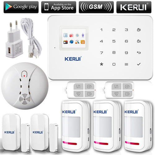 KERUI G18 English/Russian Voice GSM Autodial Home Security Alarm System+iOS App/ Android App Alarmes - Shopatronics
