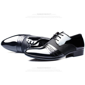 Luxury Brand Men Shoes Men's Flats Shoes Men Patent Leather Shoes Classic Oxford Shoes For Men New Fashion - Shopatronics