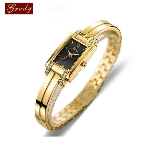 New Brand Grady fashion 18k Gold-plated women watches 3atm waterproof ladies Quartz Watch Women Wristwatches - Shopatronics