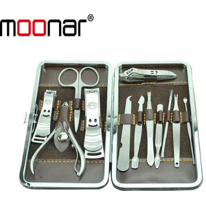 Portable Stainless steel Nail Art Manicure Set Nail Care Tools with Mini Finger Nail Cutter Clipper File Scissor Tweezers zHM080 - Shopatronics