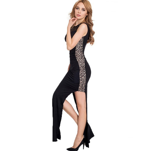 R80204/R80176 New arrival top selling party dresses 2 styles sequin lace formal dress plus size women super deal long dress - Shopatronics