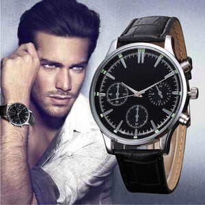 Men's watches famous luxury brand Leather Band Fashion Quartz Wristwatch - Shopatronics