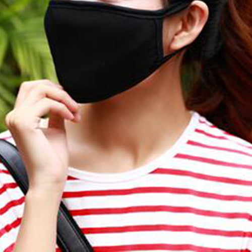Cotton Black Health Cycling Anti-Dust Mouth Face Unisex Mouth-Muffle Face Masks
