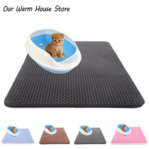 Pets Cats Litter Mat Portable Double Layer Waterproof