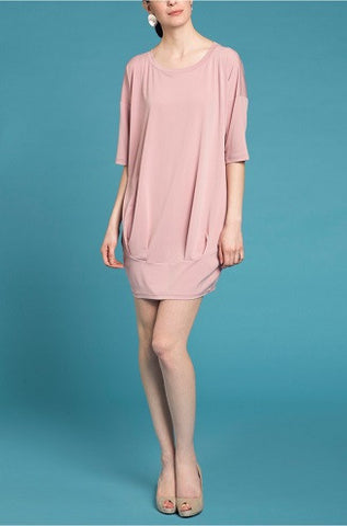 Bubble Dress - Tea Pink
