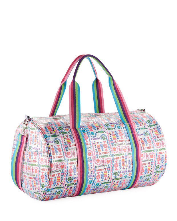 Girls' Candy-Print Shimmer Duffel Bag by BARI LYNN - Bunny Buddha