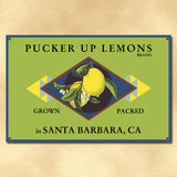 Personalized Vintage Lemon Label Sign