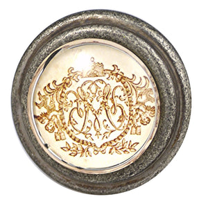 Burnished Silver Gold Emblem Knob Charleston Knob Company
