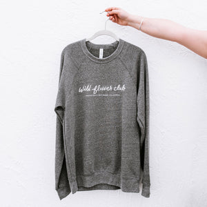 Wild Flower Club Sweatshirt - Gray