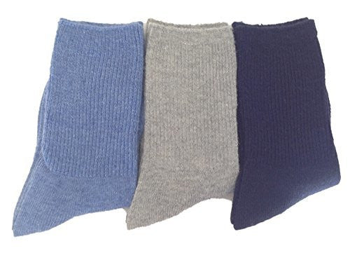 LLS Children 3 or 6 Pairs/Colors Pack Wool Socks Plain Color