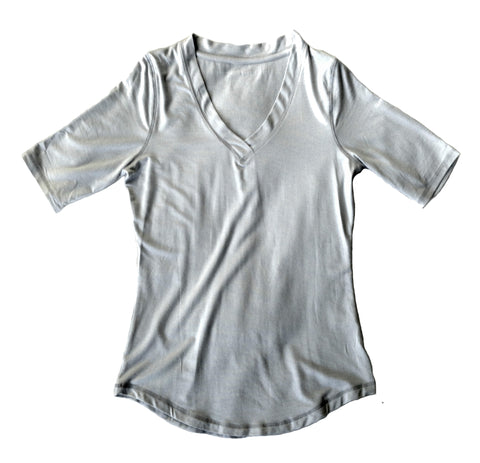 Womens Modal-blend Shirt in Dove Grey