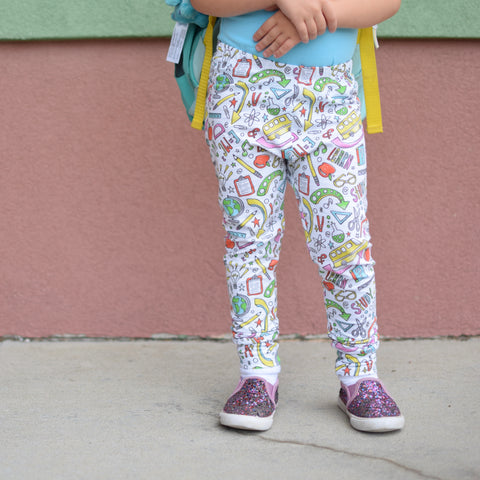 School Leggings (white)