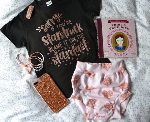 Rose gold heart Shorts & Bummies