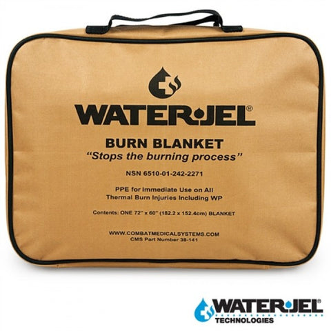 WATER-JEL® TACTICAL BURN BLANKET 6'L x 5'W - Pouch (Case of