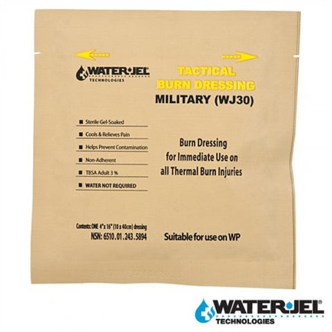 "WATER-JEL TACTICAL BURN DRESSING 4""x16"""