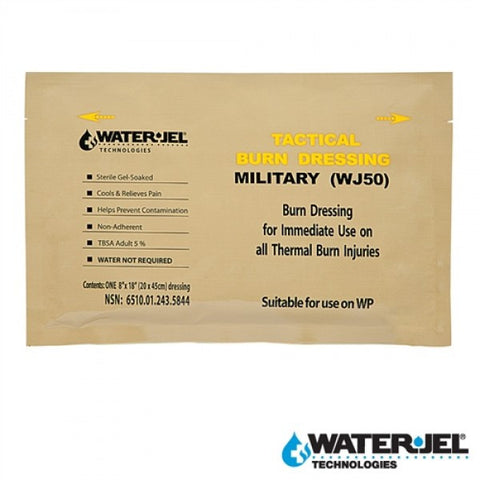 "WATER-JEL® TACTICAL BURN DRESSING 8""x18"" (Case of 20) WJ50"