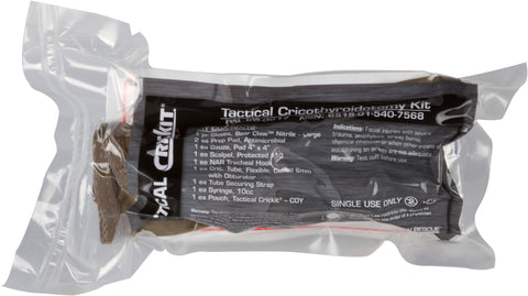 TACTICAL SURGICAL CRICOTHYROIDOTOMY KIT (TACTICAL CRICKIT®) - NSN 6515-01-540-7568