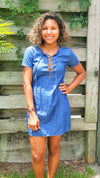 chambray mini dress