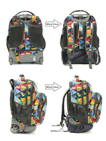 Tilami 2-Piece Rolling backpack Set - Sunset puzzle - Tilamibag